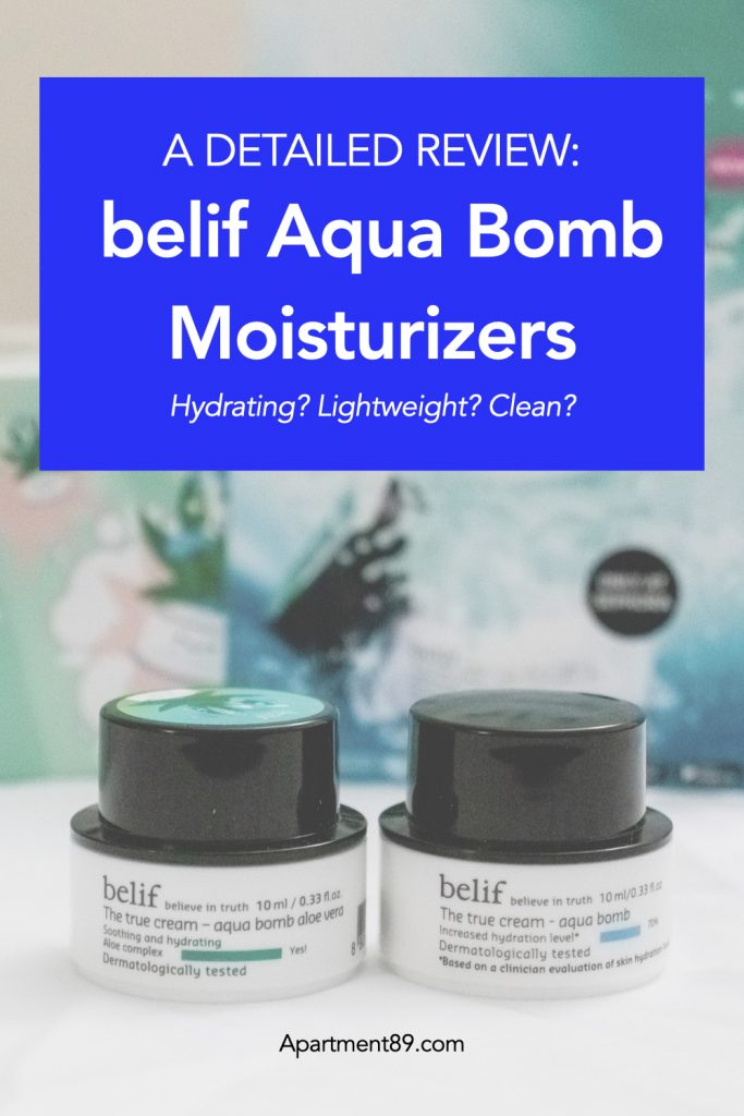 belif Aqua Bombs Detailed Review